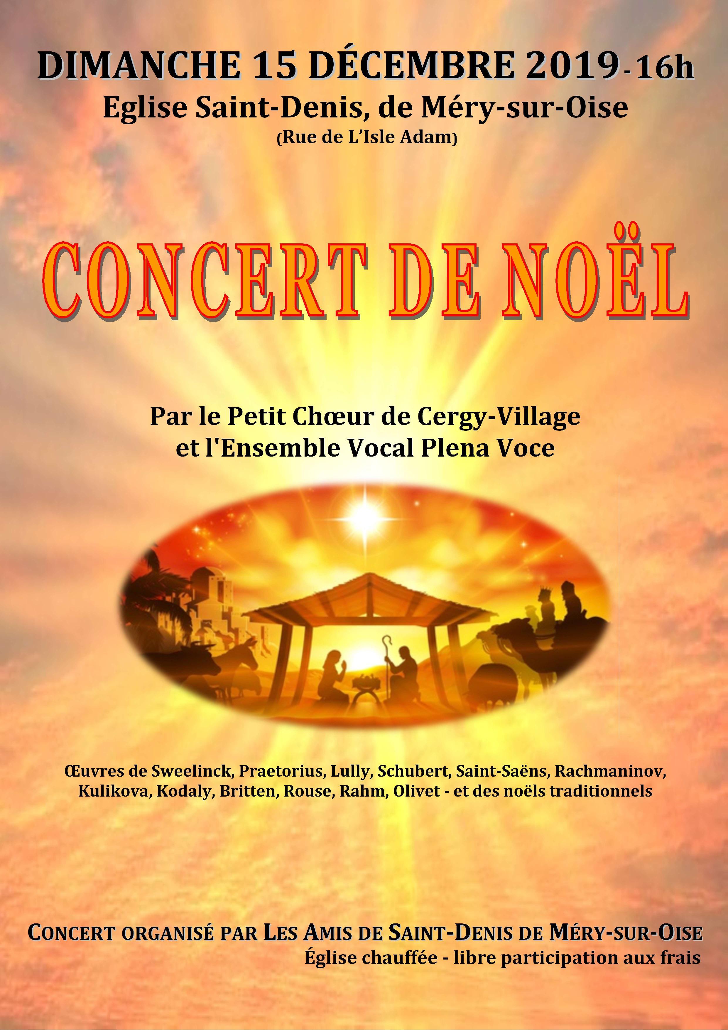 concert du 15 décembre 2019 à Méry-sur-Oise